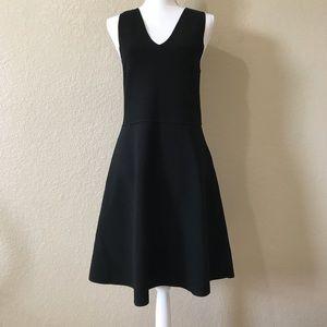 ANN TAYLOR  Black Fit & Flare Knut Dress